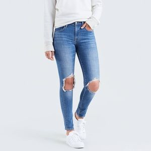 Levi 721 high rise skinny jeans